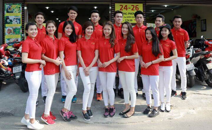 Công ty may áo thun đồng phục công ty giá rẻ - Giá trị thương hiệu