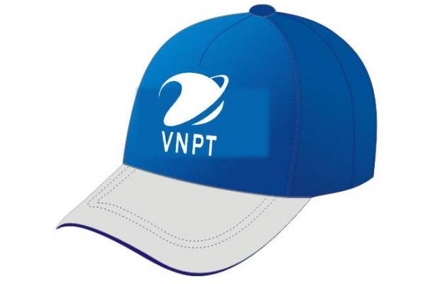 Nón kết đồng phục quảng cáo trắng xanh VNPT