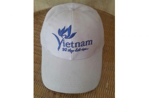 Nón kết đồng phục quảng cáo màu trắng Vietnam
