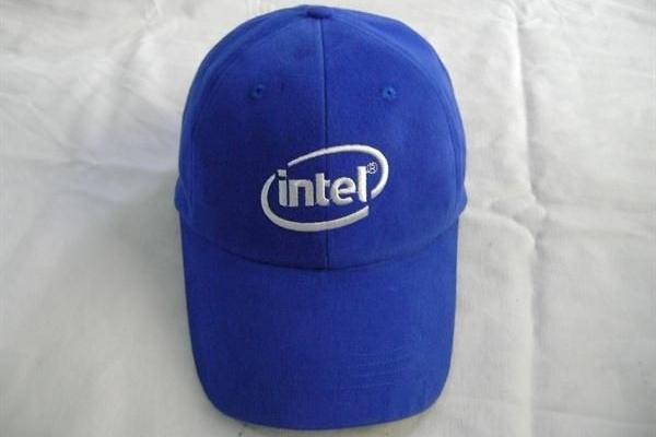 Nón kết đồng phục quảng cáo xanh dương intel