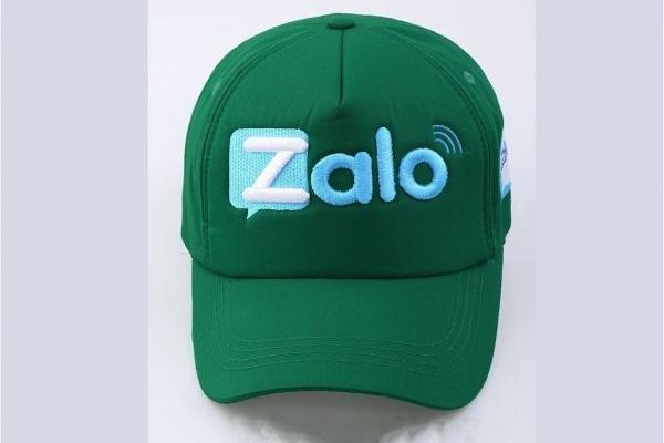 Nón kết đồng phục quảng cáo màu xanh Zalo