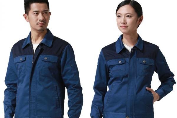Đồng phục bảo hộ lao động tay dài phối màu xanh đen