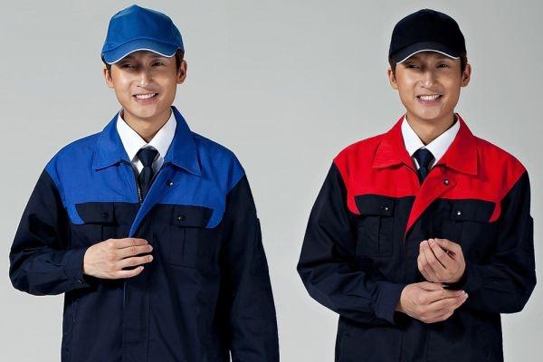 Đồng phục bảo hộ lao động tay dài kèm nón phối màu