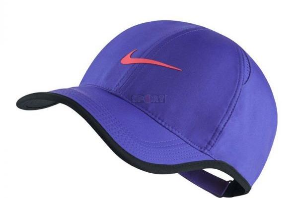 Nón kết đồng phục quảng cáo màu tím viền đen Nike
