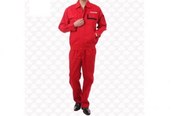Đồng phục bảo hộ lao động tay dài màu đỏ