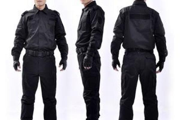 Đồng phục bảo vệ tay dài màu đen