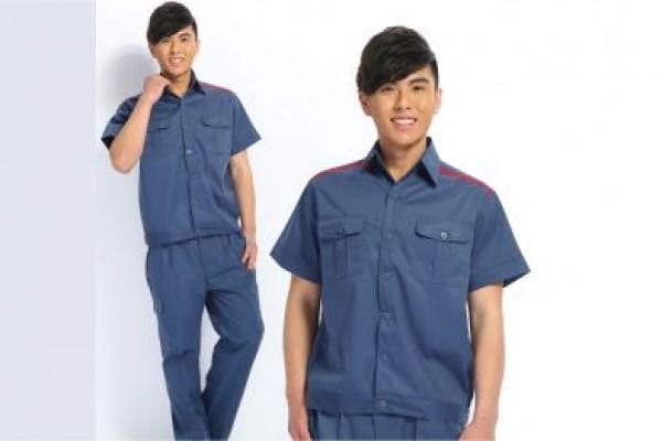 Đồng phục bảo hộ lao động tay ngắn màu xám xanh