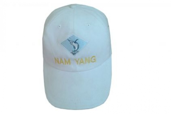 Nón kết đồng phục phối màu trắng logo thêu Nam Yang