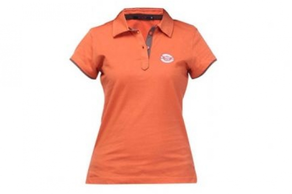 Đồng phục áo thun cổ trụ tay ngắn màu cam