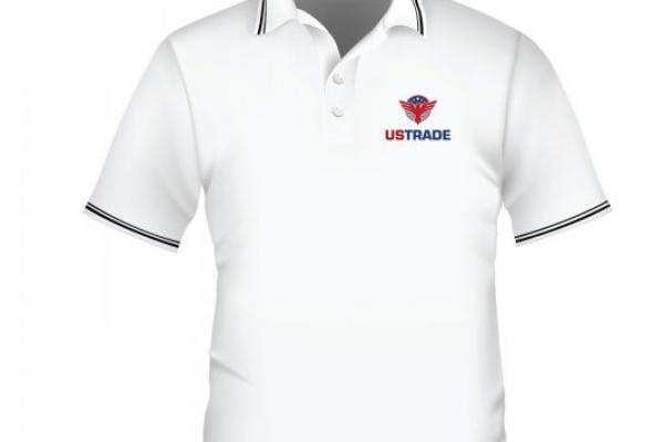 Đồng phục áo thun cổ trụ công ty màu trắng