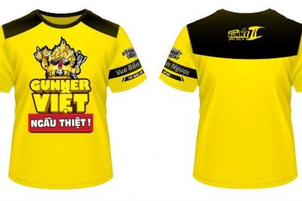 Đồng phục áo thun sự kiện Gunny màu vàng
